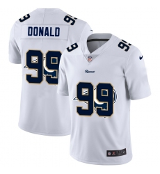Men's Los Angeles Rams #99 Aaron Donald White Nike White Shadow Edition Limited Jersey