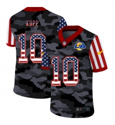 Men's Los Angeles Rams #10 Cooper Kupp Camo Flag Nike Limited Jersey