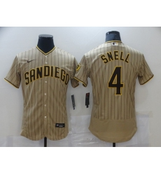 Men's Nike San Diego Padres #4 Blake Snell Brown Collection Baseball Jersey