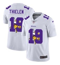 Men's Minnesota Vikings #19 Adam Thielen White Nike White Shadow Edition Limited Jersey