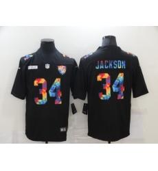 Men's Oakland Raiders #34 Bo Jackson Rainbow Version Nike Limited Jersey