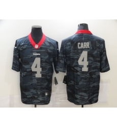 Men's Oakland Raiders #4 Derek Carr Camo 2020 Nike Limited Jersey