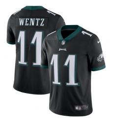 Men's Nike Philadelphia Eagles #11 Carson Wentz Black Alternate Vapor Untouchable Limited Player NFL Jersey