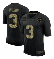 Men's Seattle Seahawks #3 Russell Wilson Camo 2020 Salute To Service Limited Jersey