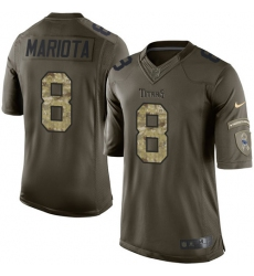 Men's Nike Tennessee Titans #8 Marcus Mariota Elite Green Salute to Service NFL Jersey
