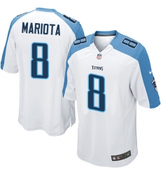 Men's Nike Tennessee Titans #8 Marcus Mariota Game White NFL Jersey