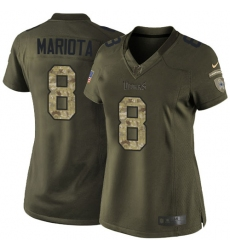 Women's Nike Tennessee Titans #8 Marcus Mariota Elite Green Salute to Service NFL Jersey