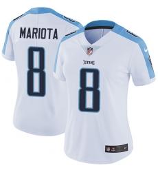 Women's Nike Tennessee Titans #8 Marcus Mariota Elite White NFL Jersey