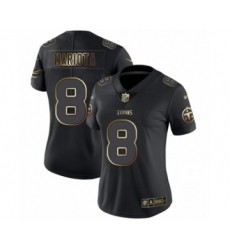 Women's Tennessee Titans #8 Marcus Mariota Black Gold Vapor Untouchable Limited Football Jersey