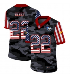 Men's Tennessee Titans #22 Derrick Henry Camo Flag Nike Limited Jersey