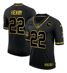 Men's Tennessee Titans #22 Derrick Henry Olive Gold Nike 2020 Salute To Service Limited Jersey