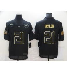 Men's Washington Redskins #21 Sean Taylor Black Nike 2020 Salute To Service Limited Jersey