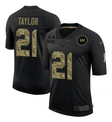 Men's Washington Redskins #21 Sean Taylor Camo 2020 Salute To Service Limited Jersey