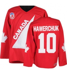 Men's CCM Team Canada #10 Dale Hawerchuk Authentic Red 1991 Throwback Olympic Hockey Jersey