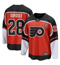 Men's Philadelphia Flyers #28 Claude Giroux Fanatics Branded Orange 2020-21 Special Edition Breakaway Player Jersey