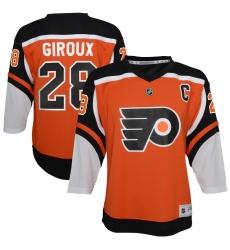 Youth Philadelphia Flyers #28 Claude Giroux Orange 2020-21 Special Edition Replica Player Jersey