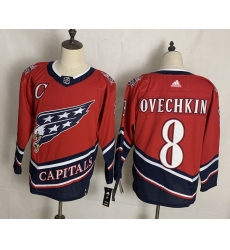 Men's Washington Capitals #8 Alex Ovechkin Red Authentic Classic Stitched Jersey