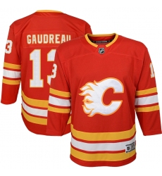 Youth Calgary Flames #13 Johnny Gaudreau Red 2020-21 Home Premier Player Jersey