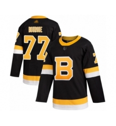 Men's Boston Bruins #77 Ray Bourque Authentic Black Alternate Hockey Jersey