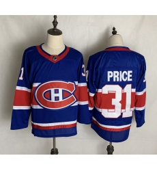 Men's Montreal Canadiens #31 Carey Price Blue 2020-21 Special Edition Replica Player Jersey