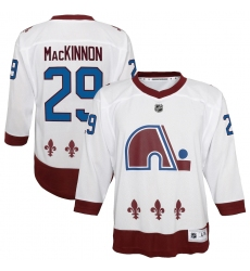 Youth Colorado Avalanche #29 Nathan MacKinnon White 2020-21 Special Edition Replica Player Jersey