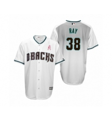 Men's Robbie Ray Arizona Diamondbacks #38 White Teal 2019 Mothers Day Cool Base Jersey