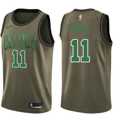 Youth Nike Boston Celtics #11 Kyrie Irving Swingman Green Salute to Service NBA Jersey