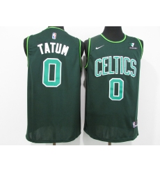Men's Boston Celtics #0 Jayson Tatum Nike Green 2021 Swingman Player Jersey