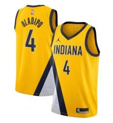 Men's Indiana Pacers #4 Victor Oladipo Jordan Brand Gold 2020-21 Swingman Jersey