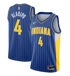 Men's Indiana Pacers #4 Victor Oladipo Nike Blue 2020-21 Swingman Player Jersey