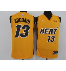 Men's Nike Miami Heat #13 Edrice Adebayo Yellow Swingman Basketball Jersey