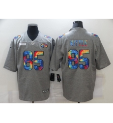 Men's San Francisco 49ers #85 George Kittle Gray Rainbow Version Nike Limited Jersey