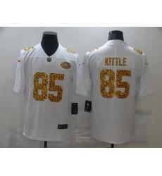 Men's San Francisco 49ers #85 George Kittle White Nike Leopard Print Limited Jersey