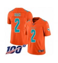 Youth Miami Dolphins #2 Matt Haack Limited Orange Inverted Legend 100th Season Football Jersey