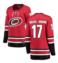 Women's Carolina Hurricanes #17 Rod Brind'Amour Fanatics Branded Red Home Breakaway NHL Jersey