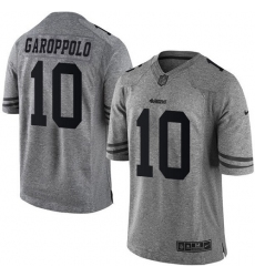 Men's Nike San Francisco 49ers #10 Jimmy Garoppolo Limited Gray Gridiron NFL Jersey