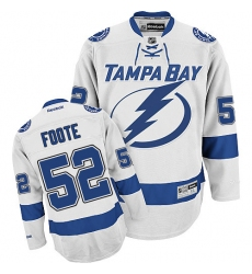 Women's Reebok Tampa Bay Lightning #52 Callan Foote Authentic White Away NHL Jersey