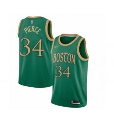 Men's Boston Celtics #34 Paul Pierce Swingman Green Basketball Jersey - 2019 20 City Edition