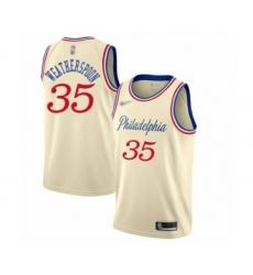 Men's Philadelphia 76ers #35 Clarence Weatherspoon Swingman Cream Basketball Jersey - 2019 20 City Edition
