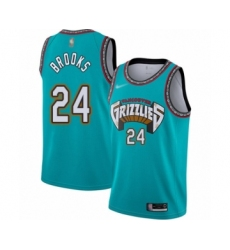 Men's Memphis Grizzlies #24 Dillon Brooks Authentic Green Hardwood Classic Basketball Jersey