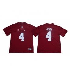Alabama Crimson Tide 4 Jerry Jeudy Red Nike College Football Jersey