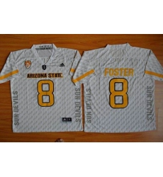 Arizona State Sun Devils #8 D. J. Foster New White Stitched NCAA Basketball Jersey