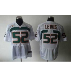 Hurricanes #52 Ray Lewis White Embroidered NCAA Jerseys