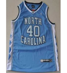 North Carolina #40 Harrison Barnes Blue Embroidered NCAA Jersey