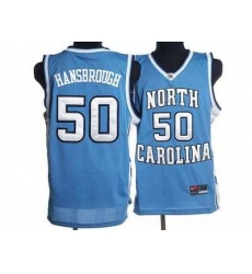 North Carolina #50 Tyler Hansbrough Blue Embroidered NCAA Jersey