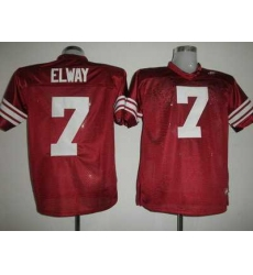Cardinal #7 John Elway Red Embroidered NCAA Jersey