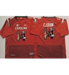South Carolina Fighting Gamecocks #14 Connor Shaw Red Player Fashion Stitched NCAA Jersey