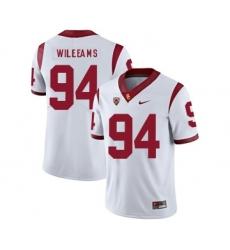 USC Trojans 94 Leonard Williams White College Football Jersey