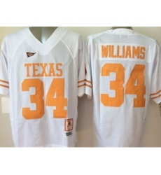 Texas Longhorns 34 Ricky Williams White College Jersey