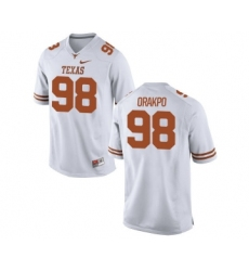 Texas Longhorns 98 Brian Orakpo White Nike College Jersey